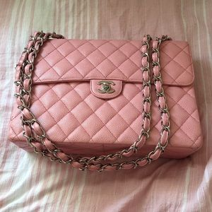 Additional Pictures of Chanel Pink Jumbo Flap Bag
